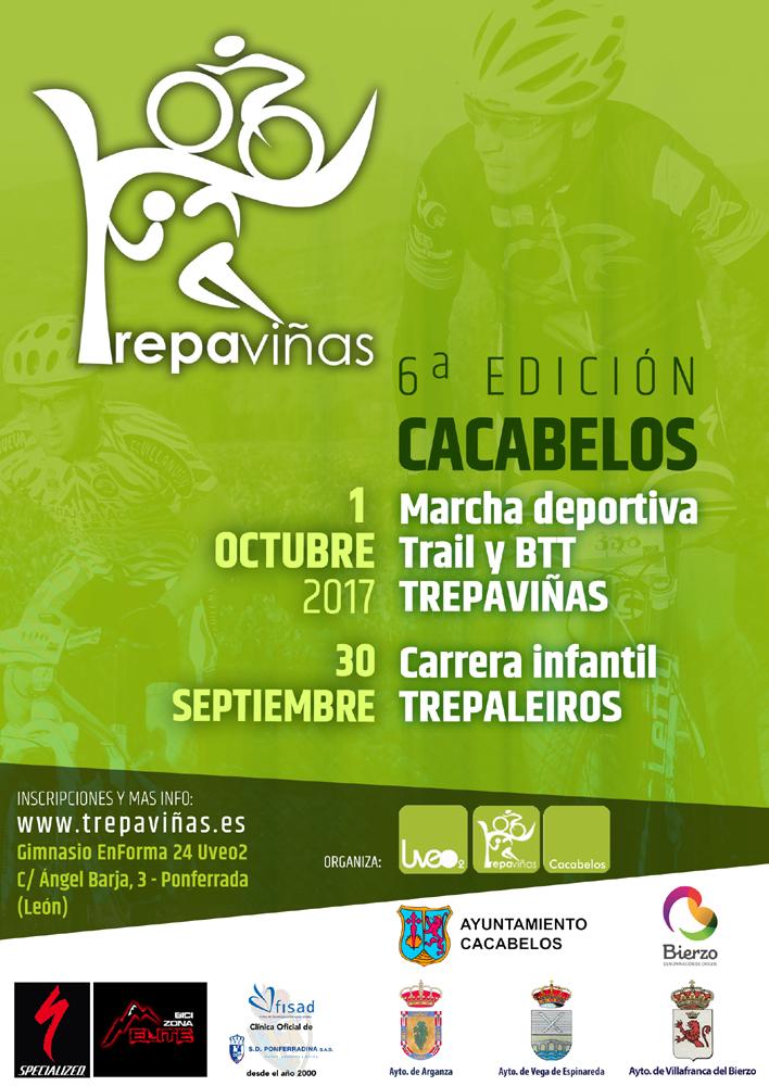 Cartel Trepaviñas - Cacabelos. Sexta edición 1 de octubre de 2017